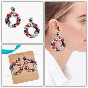 J.CREW Colorful Wreath Statement Earring